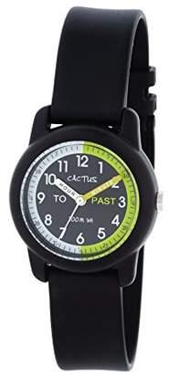Cactus (カクタス) - [カクタス]CACTUS キッズ腕時計 ティーチングウォッチ ブラック CAC-69-M01 ボーイズ 【正規輸入品】