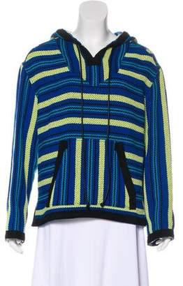 Proenza Schouler Suede-Trimmed Knit Sweatshirt