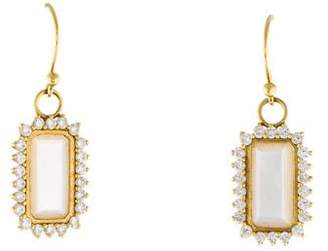 Elizabeth Showers Mother of Pearl Diamond Drop Earrings