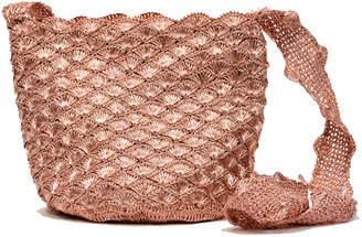Cooperativa Shop Verdi Design Rose Gold Seashell Bucket Bag