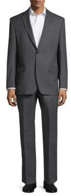Ralph Lauren Two-Piece Slim Charcoal Wool Suit
