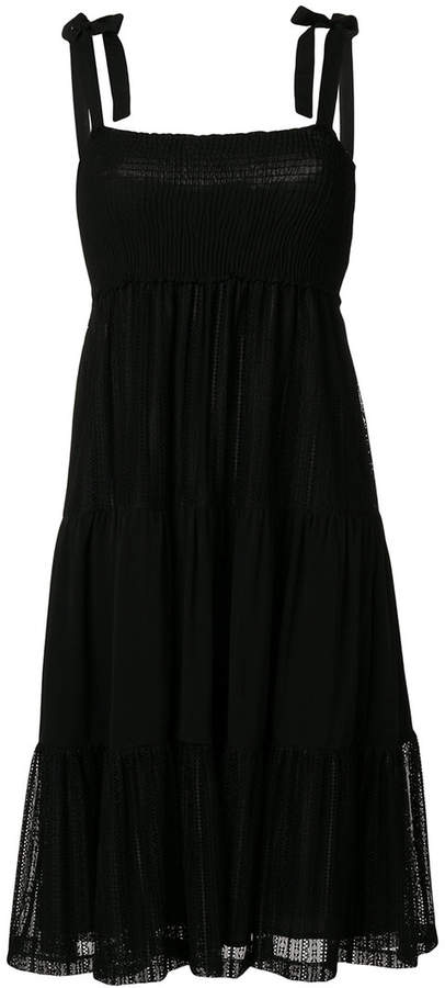 ruffled sleeveless mini dress
