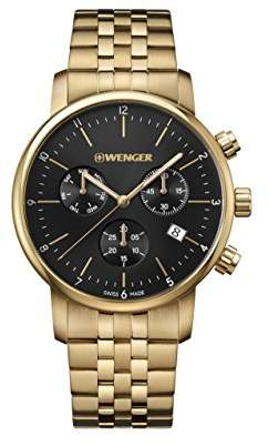 Wenger Men's 'Classic' Swiss Quartz Gold-Tone-Stainless-Steel Casual Watch