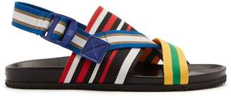 Maison Margiela - Multi Strap Canvas And Leather Sandals - Mens - Multi