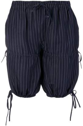 c07f6020688b Jean Paul Gaultier Pre-Owned pinstripe gathered shorts