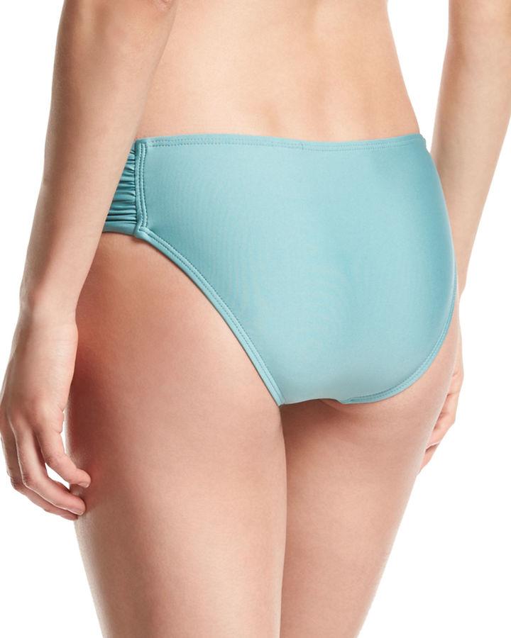 Luxe by Lisa Vogel Premier Shirred-Side Swim Bottom 4