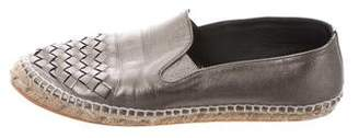 Bottega Veneta Intrecciato Leather Espadrilles
