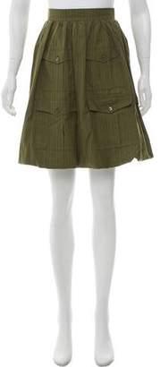Chanel Cargo Pinstripe Skirt