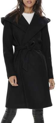 Only Hooded Wrap Coat
