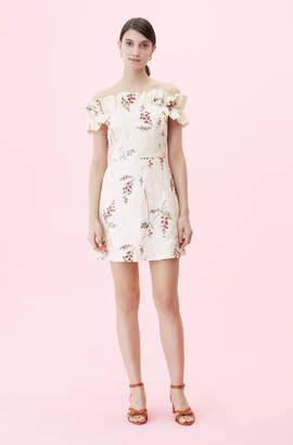 a2643a294dc Rebecca Taylor Off-The-Shoulder Ivie Fleur Embroidered Dress