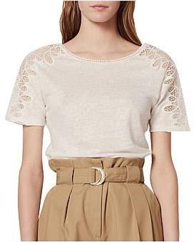 Sandro Paris Ocelia Knitted T Shirt