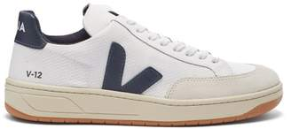 Veja V 12 Low Top Trainers - Womens - White Navy