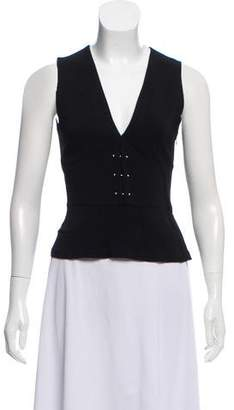 A.L.C. Sleeveless Hardware-Accented Top