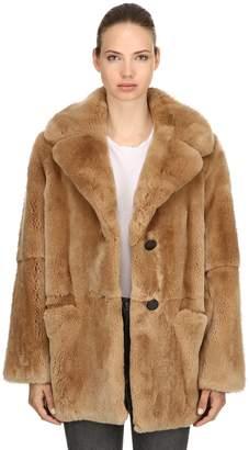 Yves Salomon Rex Rabbit Fur Coat