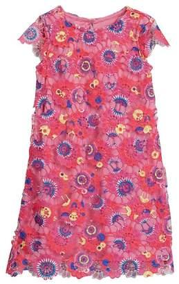 Little Angels A-Line Printed Floral Dress (Toddler & Little Girls)