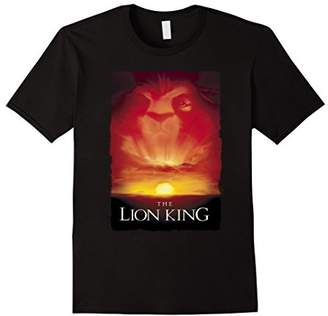 Disney Lion King Movie Poster Mufasa Sunset Graphic T-Shirt