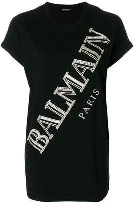 Balmain crystal logo T-shirt