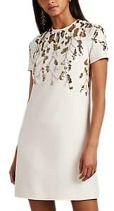 Valentino Women's Sequin-Embellished Wool-Silk Minidress - Ivorybone