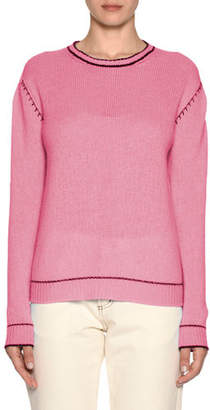 Marni Button-Down Back Cashmere Knit Sweater