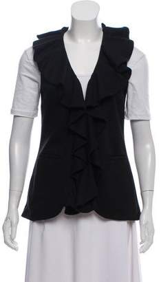 Alice + Olivia Ruffle-Accented Knit Vest