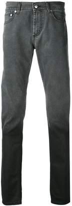 Alexander McQueen gradient straight-leg jeans