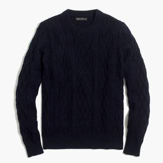 J.Crew Factory Fisherman cable crewneck sweater
