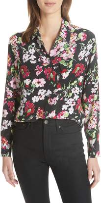 Equipment Signature Floral Silk Shirt