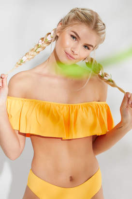 Ardene Flounced Bandeau Bikini Top