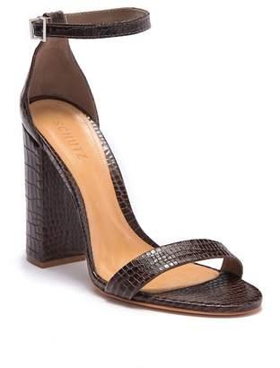 Schutz Enida Reptile-Embossed Sandal (Women)