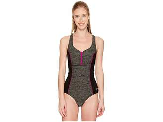 Speedo Texture Touchback One-Piece