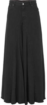 MM6 MAISON MARGIELA High-rise Wide-leg Jeans - Black