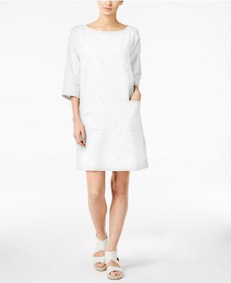 Eileen Fisher Organic Cotton Shift Dress, Regular & Petite $238 thestylecure.com