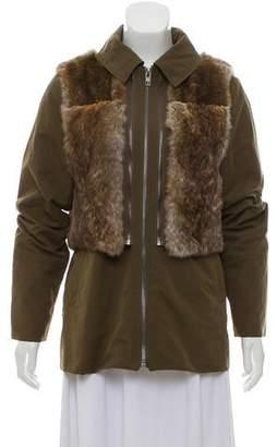 Trilogy Hooded Fur-Trimmed Jacket