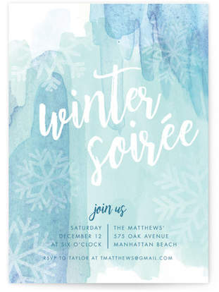 Let it Snow Holiday Party Invitations