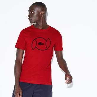 Lacoste Men's SPORT Crew Neck Lettering Jersey Tennis T-shirt