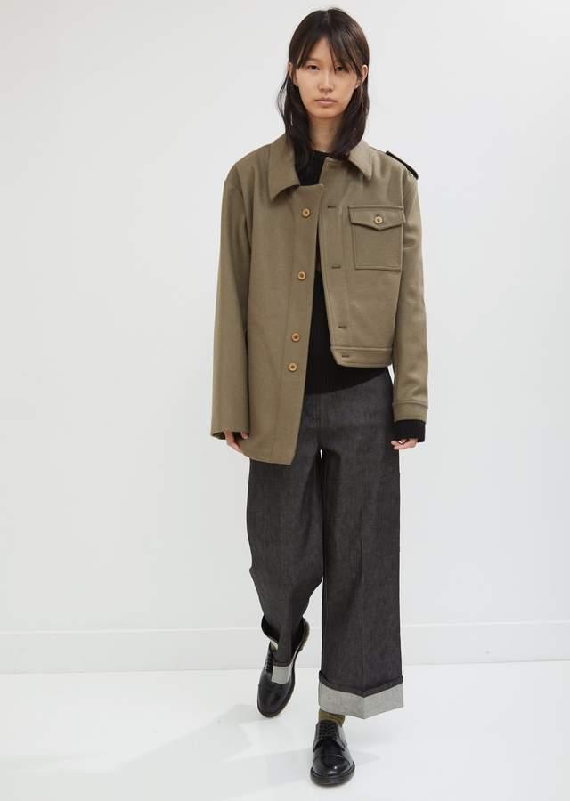 Wool Hybrid Asymmetrical Coat