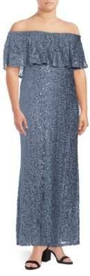 Marina Plus Off-The-Shoulder Popover Dress