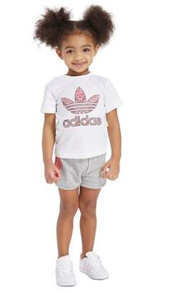 adidas Girls' Infill T-Shirt & Shorts Set Infant
