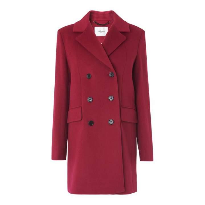 Red Sabella Wool Blend Peacoat