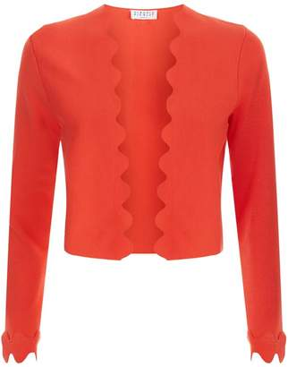 Claudie Pierlot Cropped Scallop Trim Cardigan