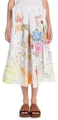 Marni Pleated Artist Skirt