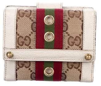 Gucci Vintage GG Web Wallet