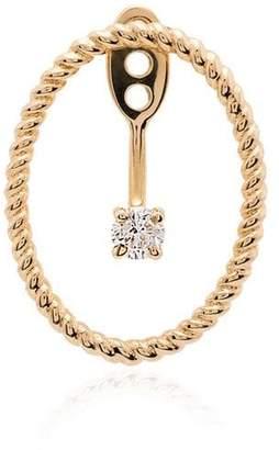 Leon Yvonne oval framed 18kt gold diamond earring