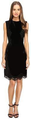 Alberta Ferretti Sleeveless Lace Trim Dress Women's Dress