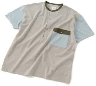 Men's Bigi (メンズ ビギ) - ADITIONAL ヘンリーネックポケットTシャツ メンズ ビギ カットソー