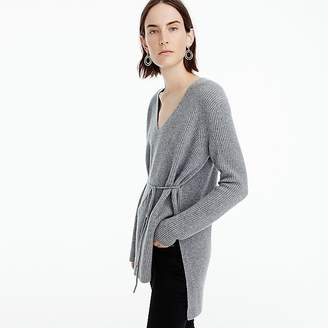 J.Crew Ribbed V-neck tunic in everyday cashmere
