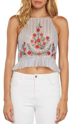 Willow & Clay Mesh Flower Tank Top