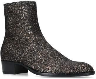Saint Laurent Wyatt Glitter Chelsea Boots