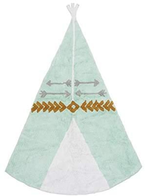 Camilla And Marc Aratextil Teepee Children's Rug, 120 x 160 cm, Cotton, Grey/Mint, 120 x 160 x 30 cm
