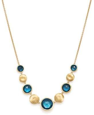 "Marco Bicego 18K Yellow Gold Jaipur Blue Topaz Collar Necklace, 16.5"""